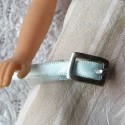 Buckle and passer-by for jewel, doll belt,with notch 1,2 cm.