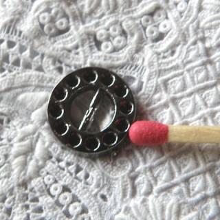 Boucle STRASS à passant ceinture chaussures poupée 1 cm.