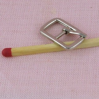Boucle ardillon miniature ceinture poupée 18 mm