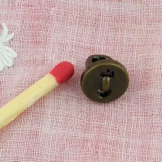 Knöchelbod-Knopf mit Metallfuß 8 mm.