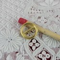 Boucle à passant miniature ceinture poupée 8 mm.