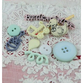 Set of 9 Buttons baby duck
