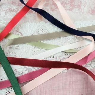 Silk Ribbons in all colors 10 mms, 1cm sell by meter