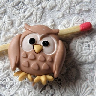 Owl shank button