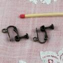 Boucles oreilles àvis avec anneau, 1,5 cm.