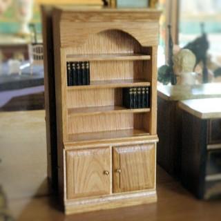 Bibliothèque miniature bois avec livres 16cm x 8cm maison poupée.