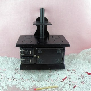 Köchin Miniaturofen Puppenhaus 10 cm