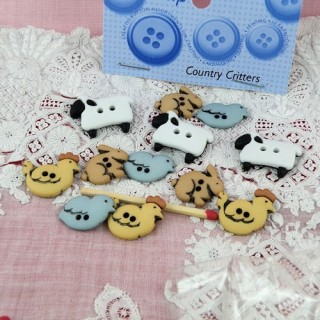 Animals for baby buttons Dress it up