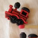 Bouton jouet:  locomotive, train.