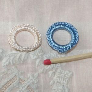 Handmade crochet round, crochet ring 2cm
