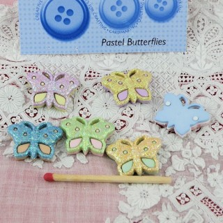 Bouton papillons scintillants Dress it up