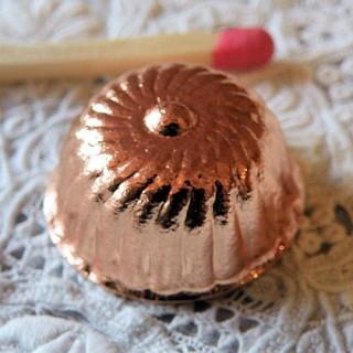 Round copper cake mould, 1,9 cm.