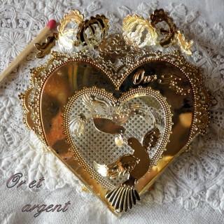 Coeur en métal décoration à suspendre