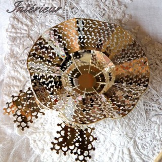Metallic openwork hat for decoration 9 cms