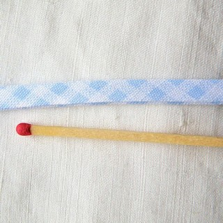 Double Fold  gingham bias Tape 1 cm