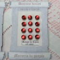 Pearly shank buttons Card