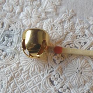 Grelot mini, clochette, poupée, 0,9 cm, 9 mm.