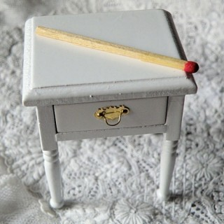 Night stand wooden, dollhouse miniature furniture bedroom