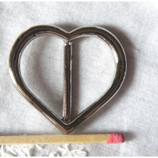 Heart metal buckle, large, hight 3cms.