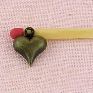 Charm Herz wölben Puppe 1 cm