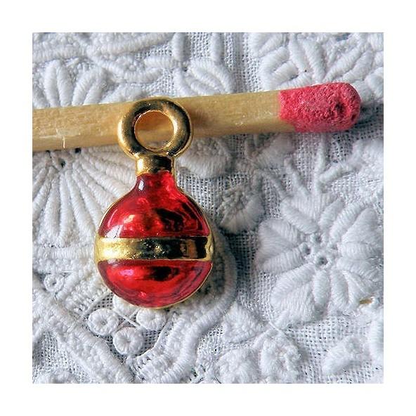 Boule sapin Noël breloque décoration miniature 1,3cm