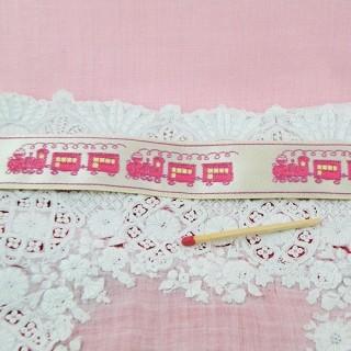 Baby train Weaved ribbon 2 cms, 24 mms