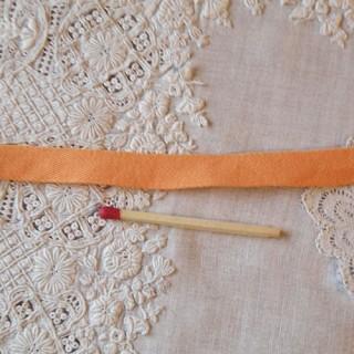 Ruban ancien coton 1,5cm, 15mm.