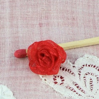 Small orgaza rose ribbon 15mm, 1,5cm.