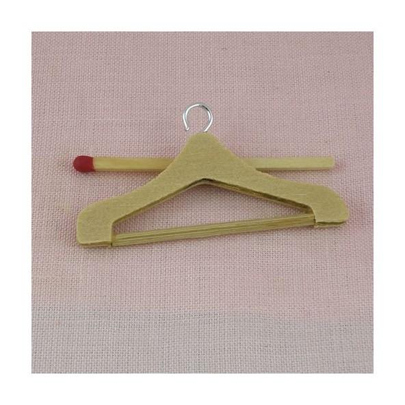 Hanger raw wood mini for doll 5 cms