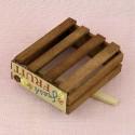 Cageot miniature en bois plateau maraicher