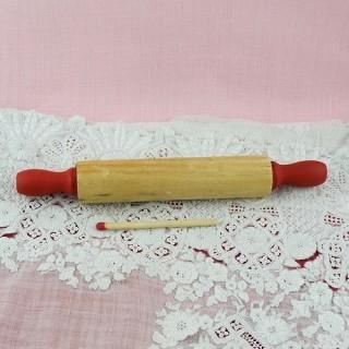 Pequeño Rodillo pastelería madera cocina muñeca 13 cm.