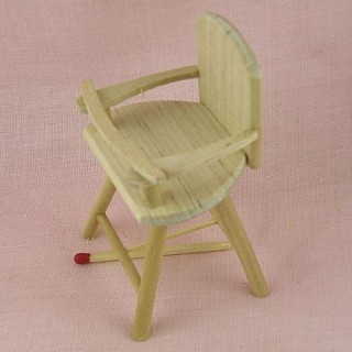Miniature highchair baby doll, doll house furnitures, 8 cms.
