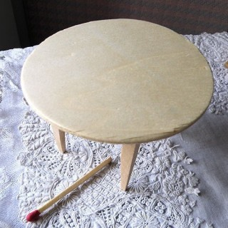 Dining room round table miniature, doll house furniture