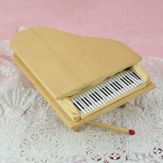 Bewegliches Klavier rohes Miniaturpuppenhaus Holz