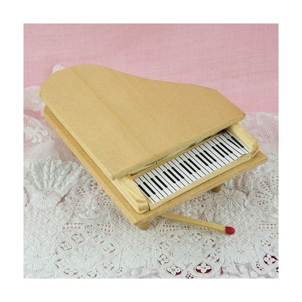 Piano movible miniatura casa de mu ecas madera bruta for Casa piano cotizacion
