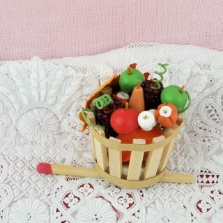 Fall basket with fruits and...