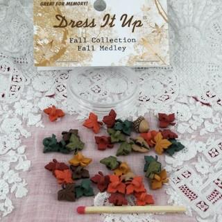Knopfe Dress it up Blätter zu Fuß mini Herbst.