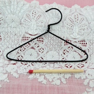 Hanger wire mini 75 mms, doll clothes, doll house miniature accessories