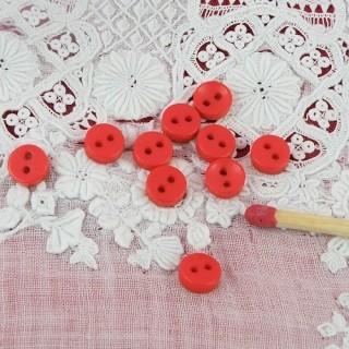 10 Flat buttons 6 mms