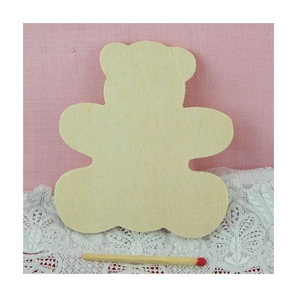 Nounours bois, ours décoration enfant 8 cm.