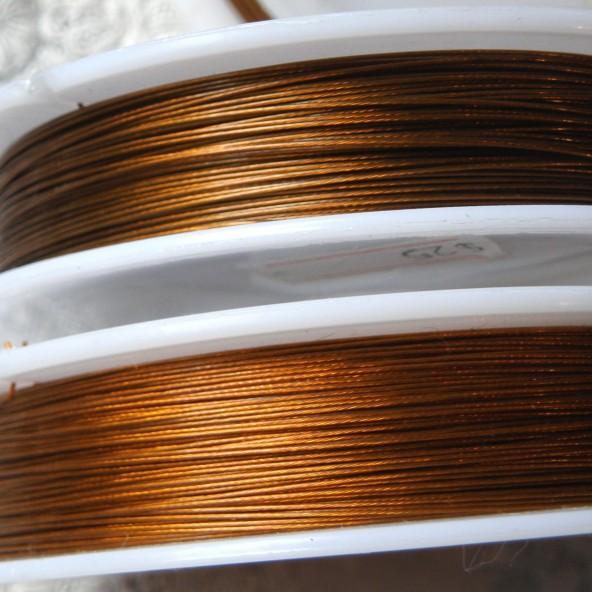 Fil métal gainé bijouterie, perles 0,38 mm.