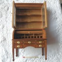 Bureau cylindre vitrine miniature maison poupée