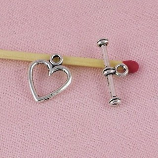 heart toggle claps, jewelry closure19 mms