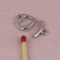 Fermoir bijouterie pagode deux parties ceinture poupée