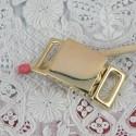 Fermoir miniature ceinturon militaire poupée