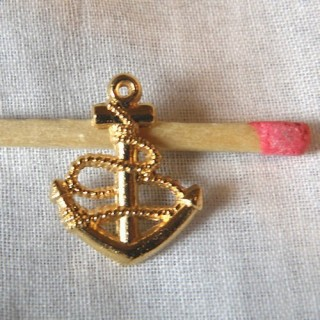 Pendant Anchor pirates boat, charm, miniature, 1,5 cm.