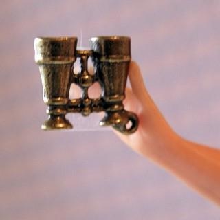 Anhänger Zwillings- Miniaturmetall Puppe