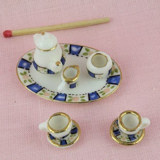 Small coffee set in painted china