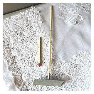 Snow Shovel pusher gardening tool doll miniature