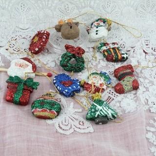 Décoration Noël maison poupée sapin miniature